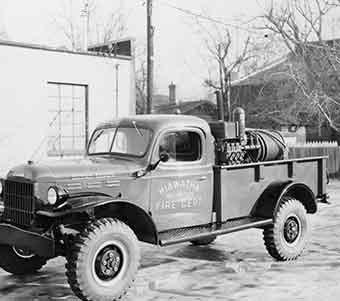 Hiawatha Volunteer Fire Truck