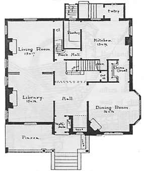 Schematic of a model home floor plan