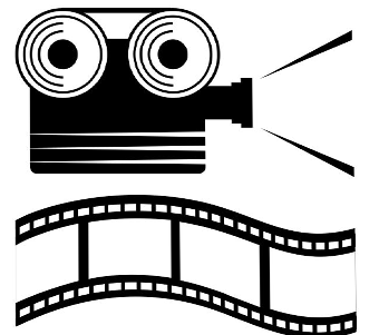 Camera and film graphic