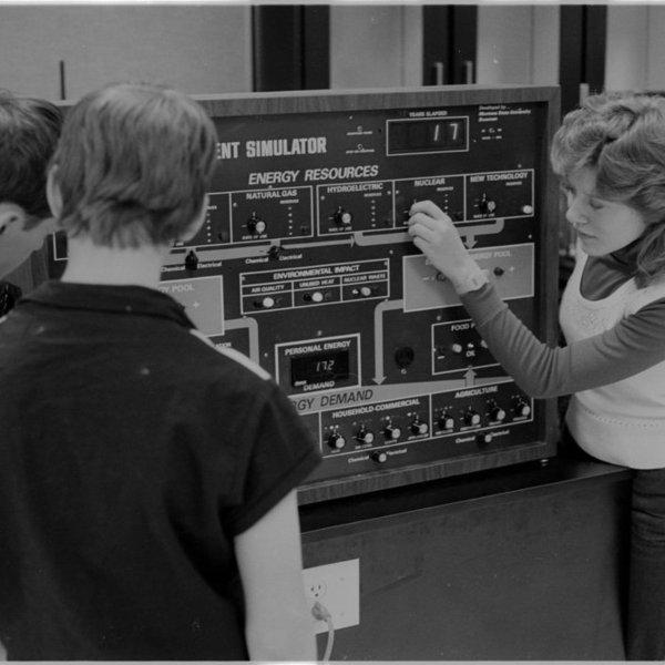 Historical photo of simulator